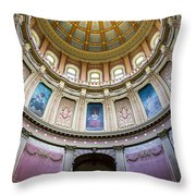 The Dome In Color Throw Pillow