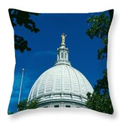 The Dome Of The Wisconsin State Capitol Throw Pillow