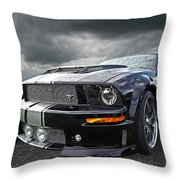The Dominator - Cervini Mustang Throw Pillow