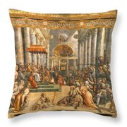 The Donation Of Rome. Throw Pillow