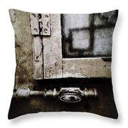 The Door Of Belcourt Throw Pillow
