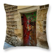 The Door And The Wonderful Wall Throw Pillow