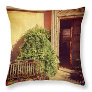 The Doors Of Mexico Throw Pillow