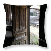 The Doorway               Colored Pencil Throw Pillow