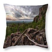 the Dorion Pinnacles Throw Pillow