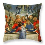 The Dormition Of The Virgin Throw Pillow