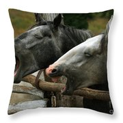 the double Yawn Throw Pillow