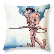 The Doughboy Stands Throw Pillow