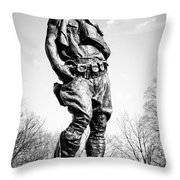 The Doughboy - Tribute To The American Expeditionary Forces Of World War 1 Throw Pillow by Gary Heller