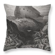 The Dove Sent Forth From The Ark Throw Pillow