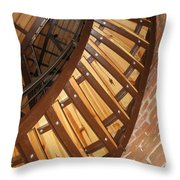The Downside Of Spiral Stairs Throw Pillow