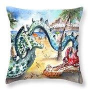 The Dragon From Penicosla Throw Pillow