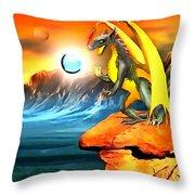 The Dragon Lands Throw Pillow