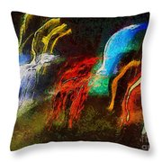 The Dragons Of Desire Throw Pillow