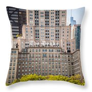 The Drake Hotel In Downtown Chicago Throw Pillow