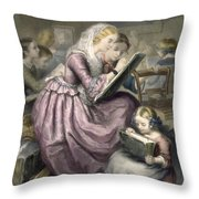 The Drawing School, C.1835 Throw Pillow
