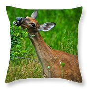 The Dreaded Deer Giraffe Throw Pillow