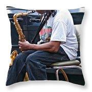 The Dreaded Sax Throw Pillow