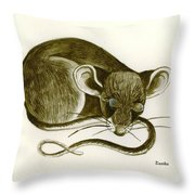 The Dreaming Mouse Throw Pillow