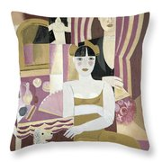 The Dressing Room Throw Pillow