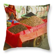 The Dried Fruit Seller Throw Pillow