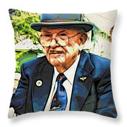 The Driver Throw Pillow