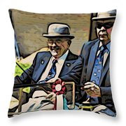 The Drivers Throw Pillow