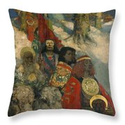 The Druids - Bringing In The Mistletoe Throw Pillow
