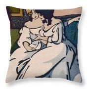 The Duchesse De Langeais Visiting The Vicomtesse De Beauseant Throw Pillow by Quint