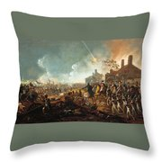 The Duke Of Wellington At La Haye Sainte. The Battle Of Waterloo Throw Pillow