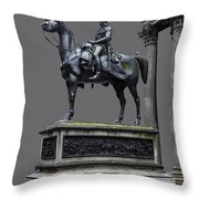 The Duke Of Wellington Goma  Grey Throw Pillow by John Farnan