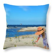 The Dunes Throw Pillow by Mary Timman
