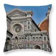 The Duomo And Baptistery Of St. John Throw Pillow