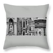 The Duomo Black And White Throw Pillow