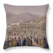 The Durbar-khaneh Of Shah Throw Pillow