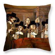 The Dutch Masters Throw Pillow by Anthony Falbo