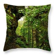 The Eagle Creek Trail Throw Pillow