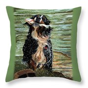 The Early Berner Catcheth Phone Throw Pillow