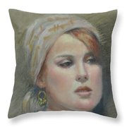 The Earring Throw Pillow