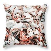 The Earthquake Worms Throw Pillow