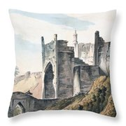 The East End Of The Fort Of Mongheer Throw Pillow