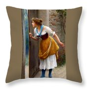 The Eavesdropper Throw Pillow