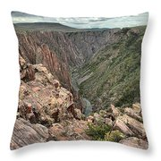 The Edge Of Back Canyon Throw Pillow