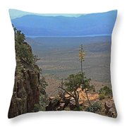 The Edge Of Parker Canyon Throw Pillow