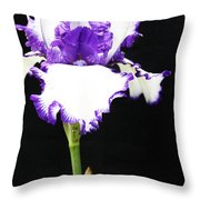 The Edge Of Purple Throw Pillow
