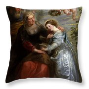The Education Of The Virgin Throw Pillow