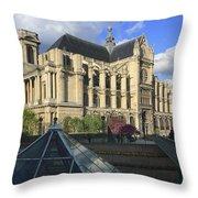 The Eglise De Saint-eustache Paris France  Throw Pillow