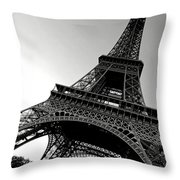 The Eiffel Tower Throw Pillow by Olivier Le Queinec