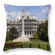 The Eisenhower Executive Office Building Throw Pillow