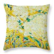 The Elderflower Tree Oil On Canvas Throw Pillow